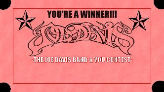 The Joe Davis Band & YOU Contest